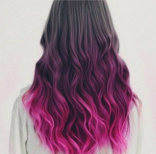 Black and Pink Curls