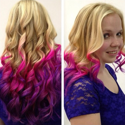 Blond, Pink and Purple Hair