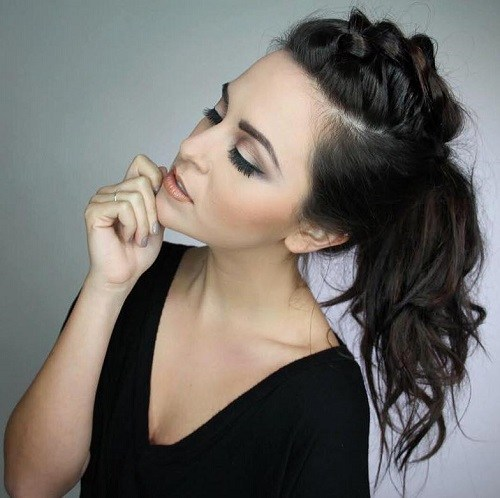 Ponytail Design for Brunette