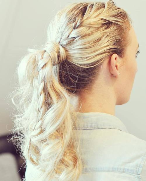 Ponytail with Braid