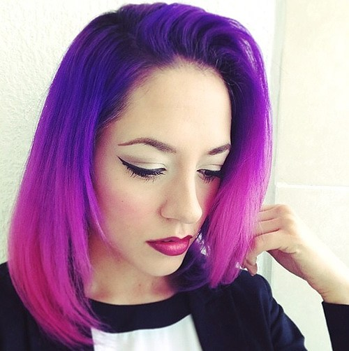Purple and Pink Bob