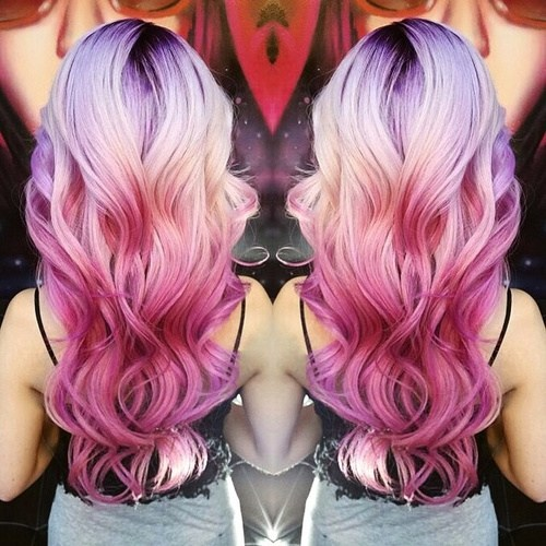 Purple and Pink Waves