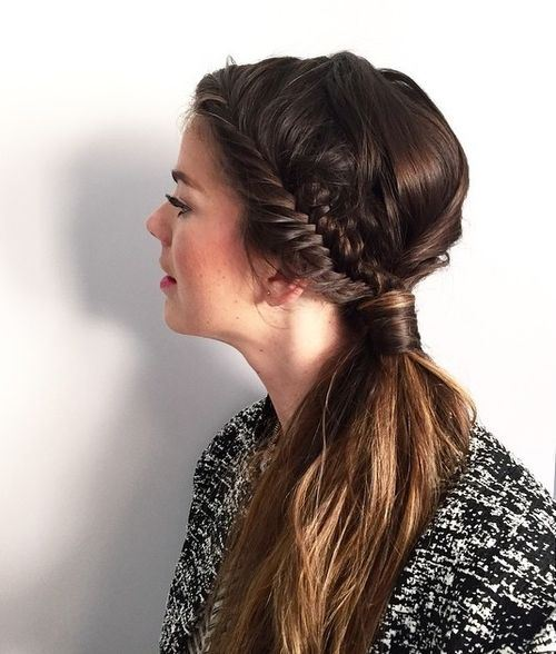 Side Ponytail and Side Braid