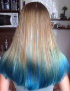 20 Captivating Blue Hair Color Designs: Ombre Hairstyles
