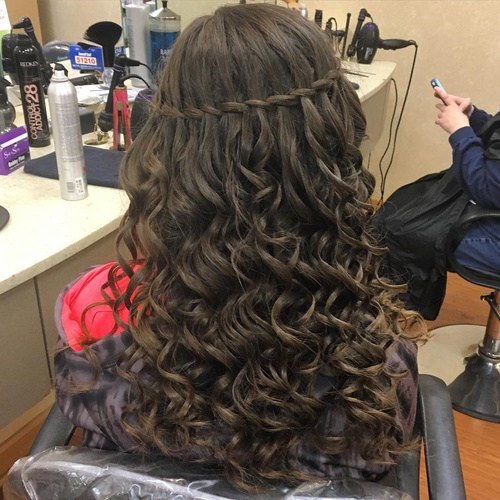 Tremendous 20 Gorgeous Waterfall Hairstyles Cute Long Hair Style Ideas For 2017 Short Hairstyles For Black Women Fulllsitofus