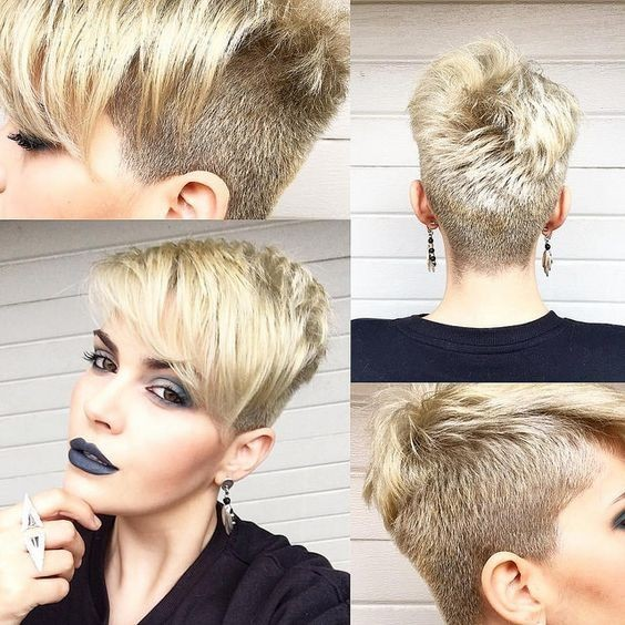 10 Easy, Women Short Hairstyles Inspiration 2018: Stylish Pixie ...