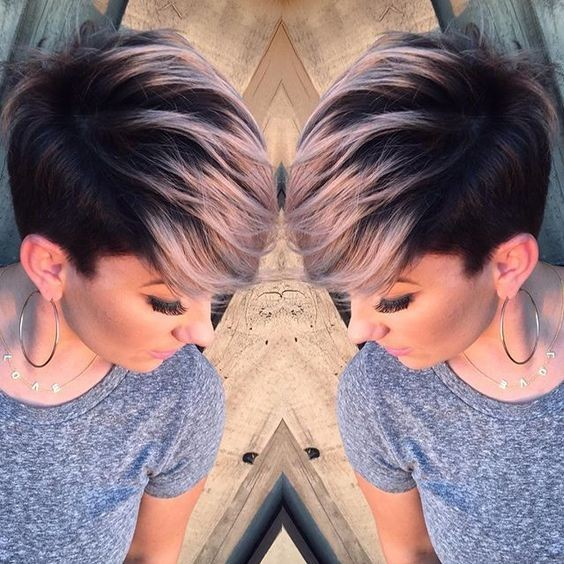 asymmetrical-short-haircut-ombre-hairstyle-ideas
