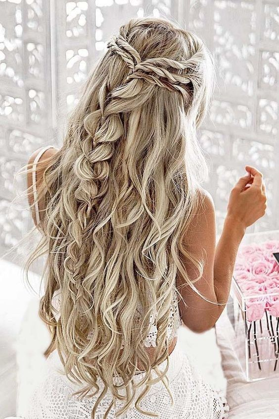 Bridal Hairstyles Long Hair : Pretty braided hairstyles for wedding hair