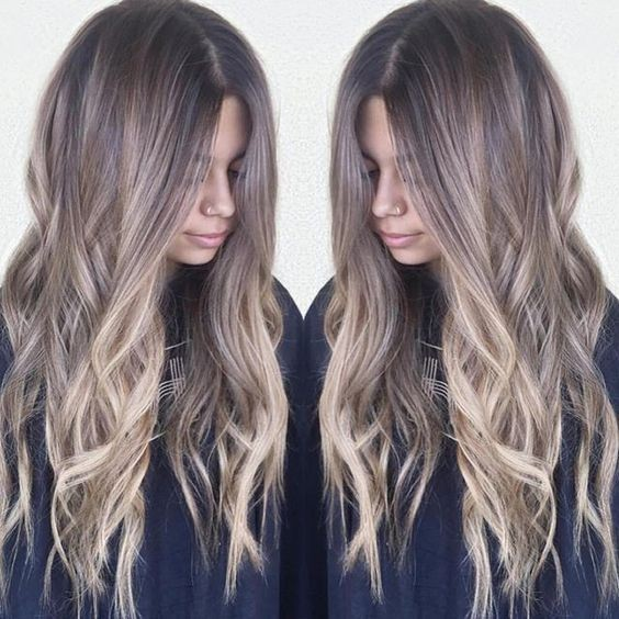 Casual, Messy Long Hairstyle - Ombre Balayage Hairstyles