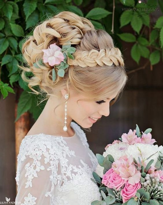 10 beautiful updo hairstyles for weddings classic bride hair chic braided updo hairstyles for wedding perfect brides hairstyle junglespirit Images