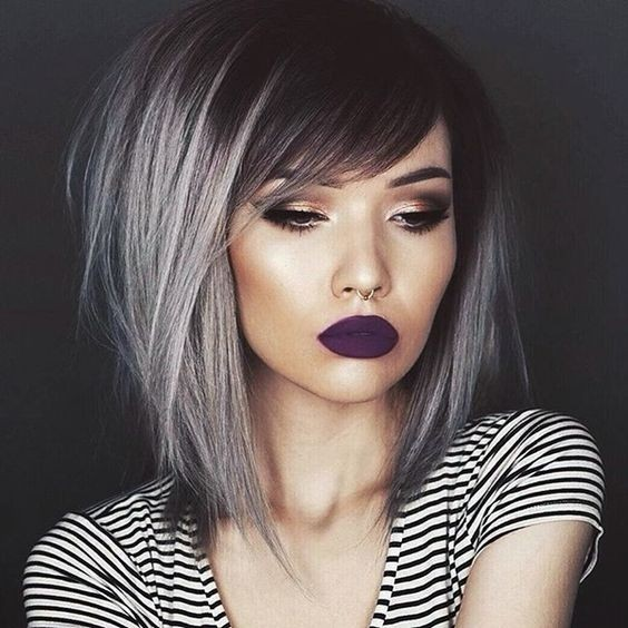Chic Medium Length Hair Styles - Ombre Haircut for Women Thick Hair ...