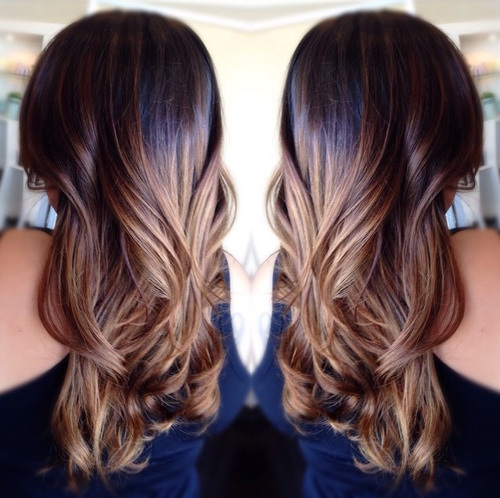 Chocolate Ombre Waves