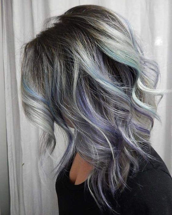Curly Medium Haircuts for Thick Hair - Pastel Balayage Hairstyles