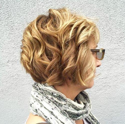 Golden Curly Hair