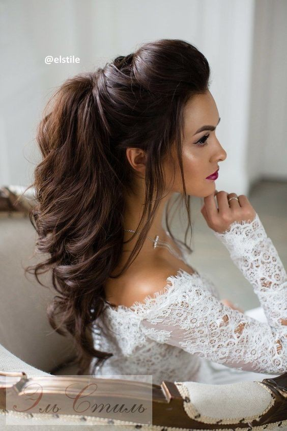 Half Up Half Down Hairstyles for Bridal