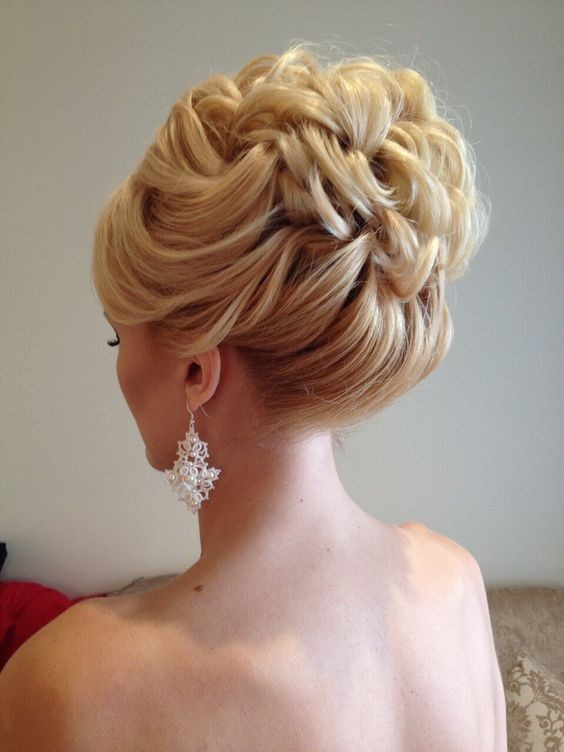 Lovely Wedding Hair Styles - Bridal Updo Hairstyle for Medium Length Hair