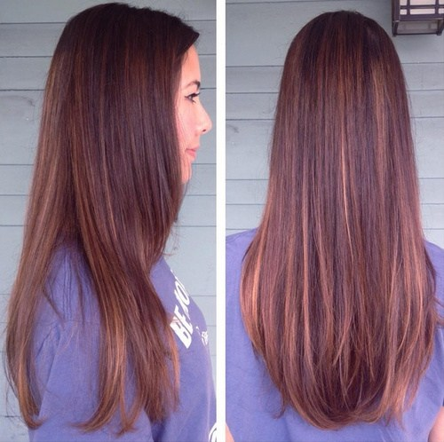 Mahogany Ombre Hair