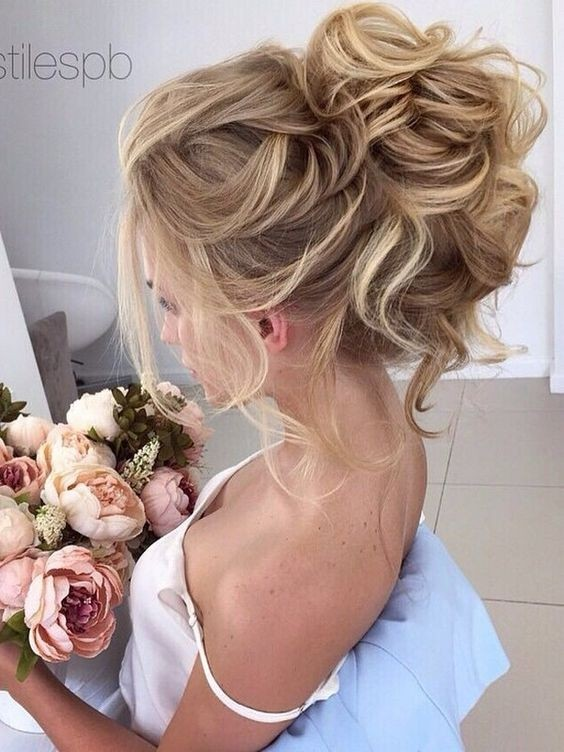 Messy Updo Hairstyles For Bridal Wedding Hair Styles
