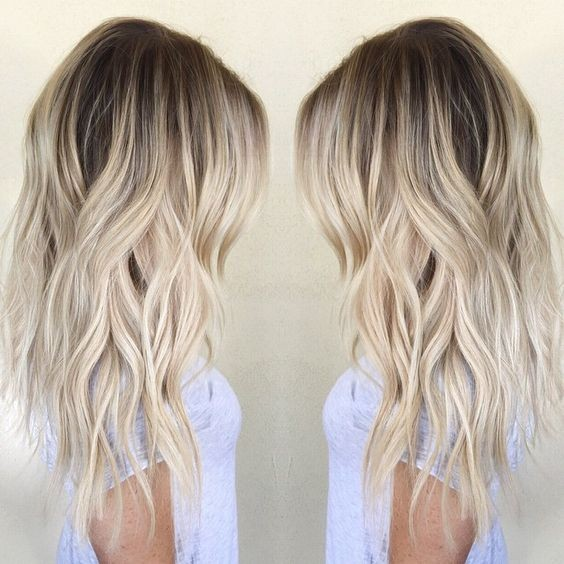 Ombre Balayage Hairstyles For Women Girls Wavy Hair Cuts For