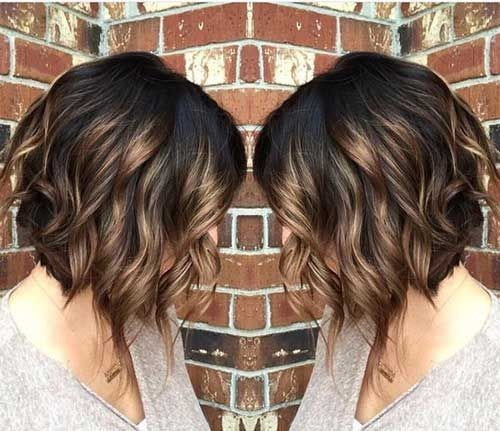 Ombre Curly Bob Haircut Beloved Brunette Bob Hairstyles