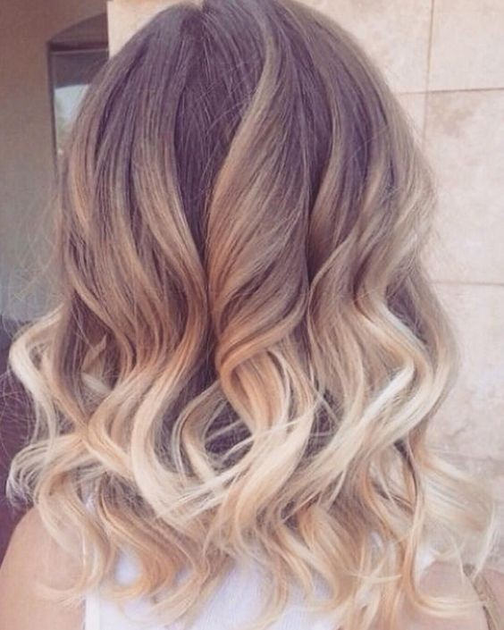 Ombre, Curly Medium Hairstyle - Women Haircut Ideas