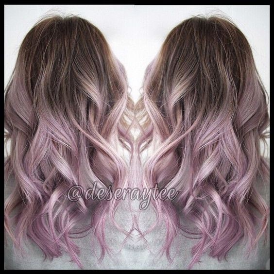 Ombre Pastel Hair Styles - Pretty Silver Rose Hair Color