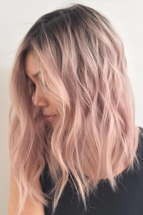 30 chic everyday hairstyles for shoulder length hair medium pink ombre medium hairstyles hair color inspiration designs for women urmus Choice Image