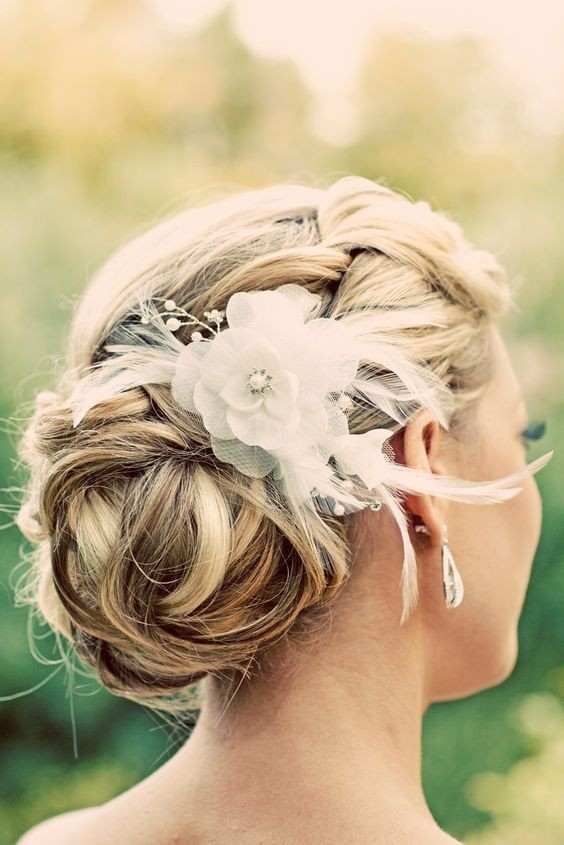 Romantic, Glamorous Updo for Bridal - Updo Hairstyles for Medium, Short Hair