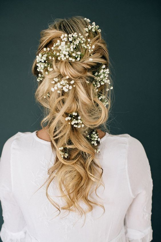 Romantic Tousled Braid Hairstyles and Adorned - Wedding Hairstyle Designs