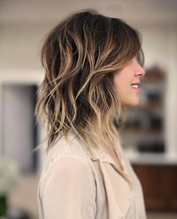 Stylish Shag Hairstyles For Medium Hair Women Shoulder Length Hair