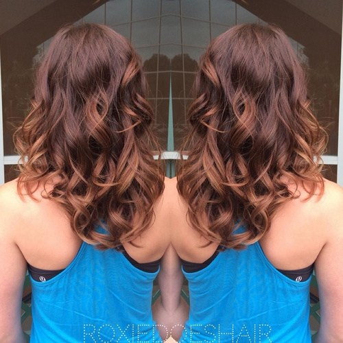 Wine Red Ombre Curls