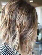 Balayage Lob Hair Cuts for Thick Hair