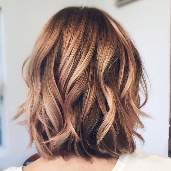 Balayage Medium Haircut for Thick Hair - Women Shoulder Length Hairstyle Designs