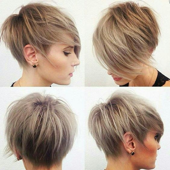 Balayage Pixie Hairstyle For Fine Hair Layered Short Haircuts