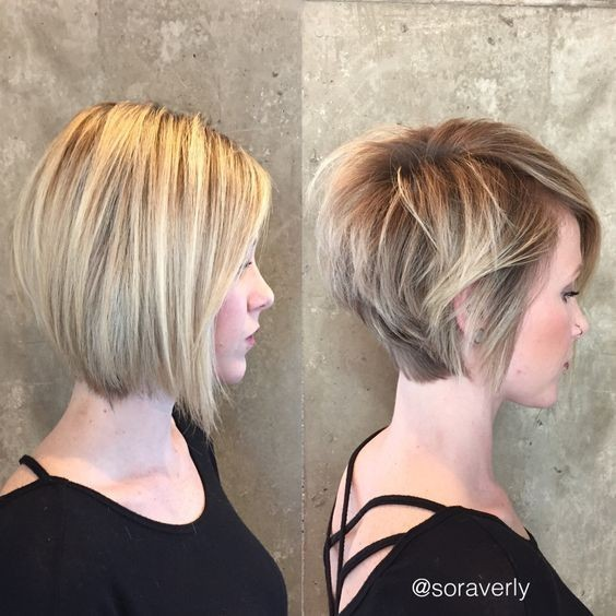Balayage Short Haircut With Straight Hair Trendy Cuts For Women