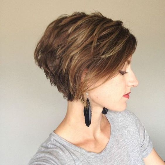 ... Stacked Hairstyles for Short Hair - Practicality Short Hair Cuts 2017