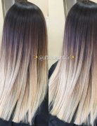 Blunt Long Haircut for Women Thick Hair Ombre Balayage Hair Ideas