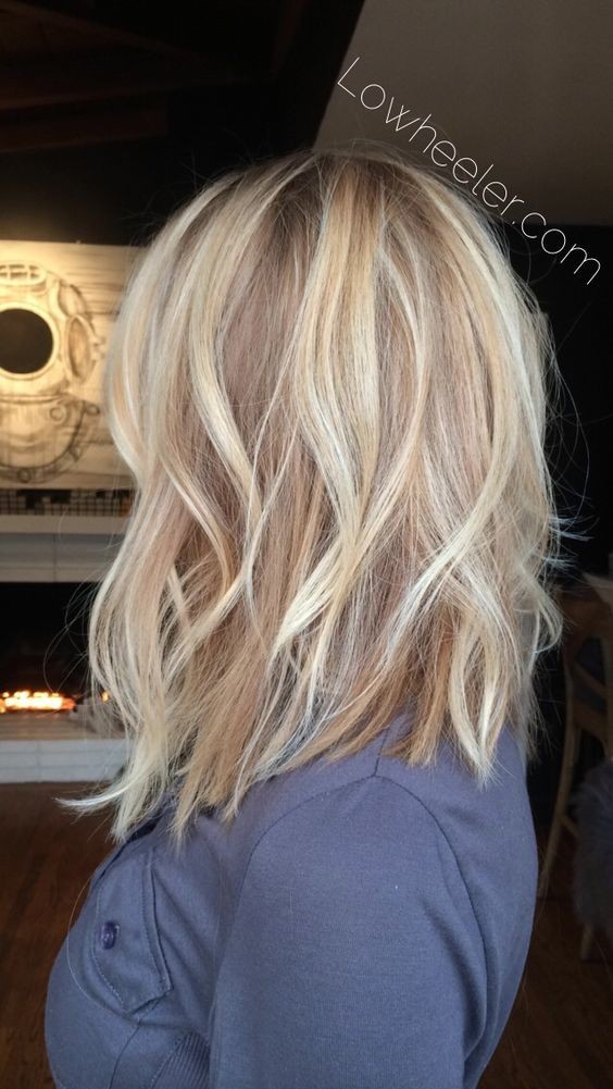 Blunt Medium Length Hairstyles for Fine Hair - Balayage, Layered Haircuts