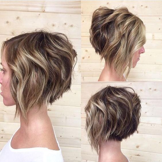 10 Trendy Stacked Hairstyles for Short Hair - Practicality Short Hair Cuts 2017