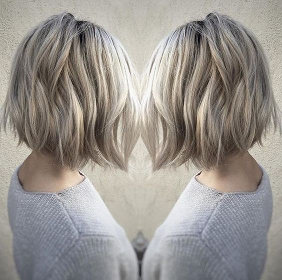 Layered, Lob Hair Cuts for Thick Hair - Balayage Hairstyles