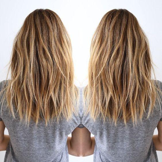 Layered Medium Haircuts for Thick Hair - Balayage Hairstyle