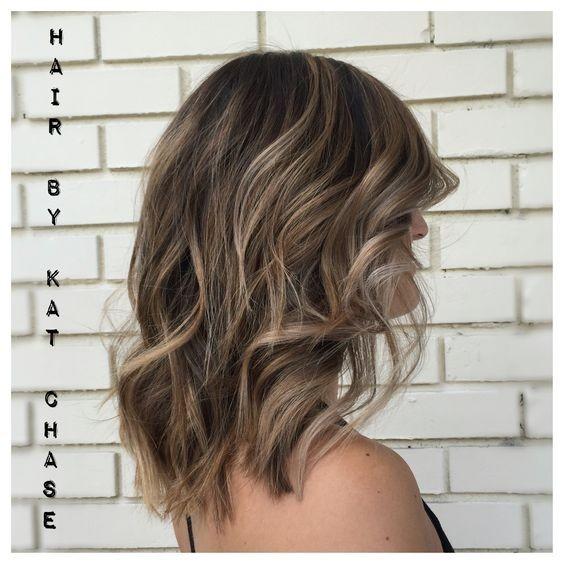 Layered Medium Hairstyles - Ash Blonde Balayage Highlights on Medium Hair