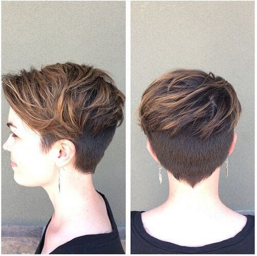 Layered Pixie Haircut With Thick Hair Women Short Hairstyle Ideas
