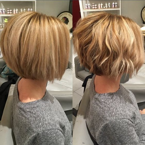 Layered, Wavy Bob Haircut for Women Short Hair - Balayage Short Hairstyles