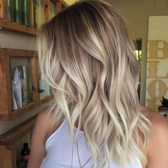 Layered, Wavy Hair Styles - Ombre, Balayage Hairstyles for Medium, Long Hair