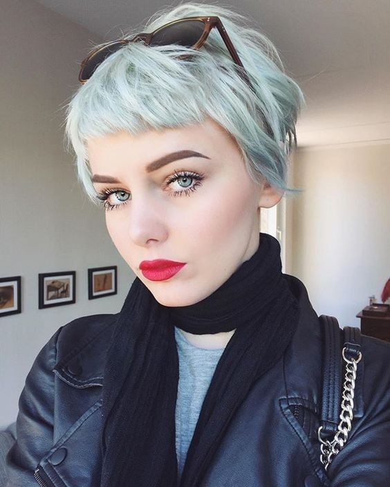 Lovely Short Haircuts with Bangs - Short Hairstyle for Fine Hair
