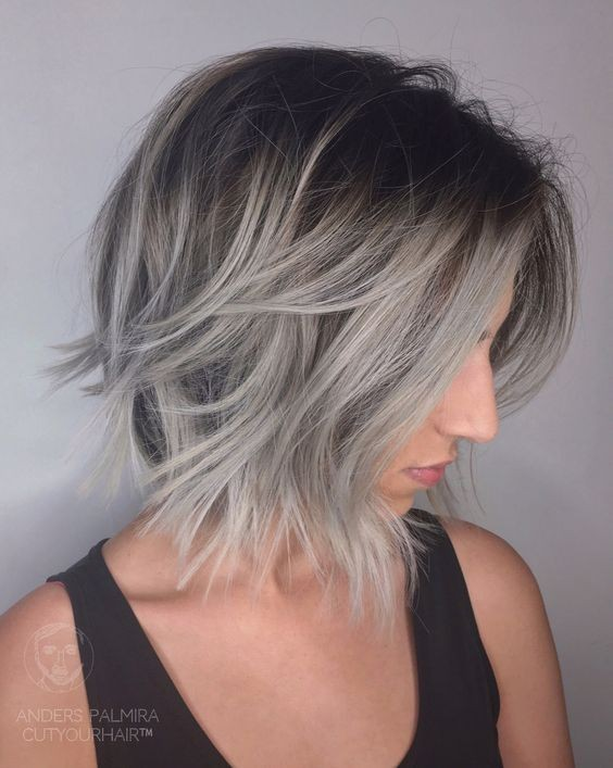 lob haircut for thin hair 30 best hairstyles for hair popular haircuts 2438 | Ombre Balayage Lob Hairstyle for Fine Hair