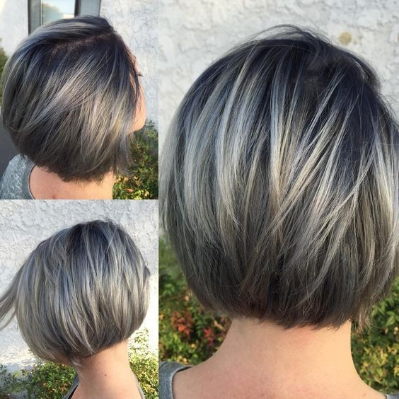 Ombre, Layered Short Bob Hairstyles - Round Short Haircut for Women