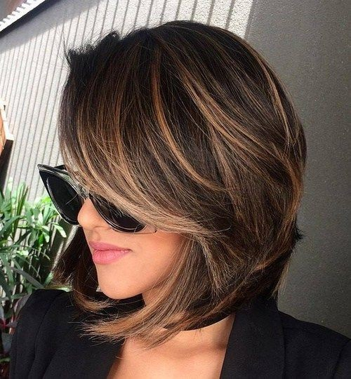 Shoulder Lenght Hairstyles for Women Thick Hiar - Balayage Hairstyle