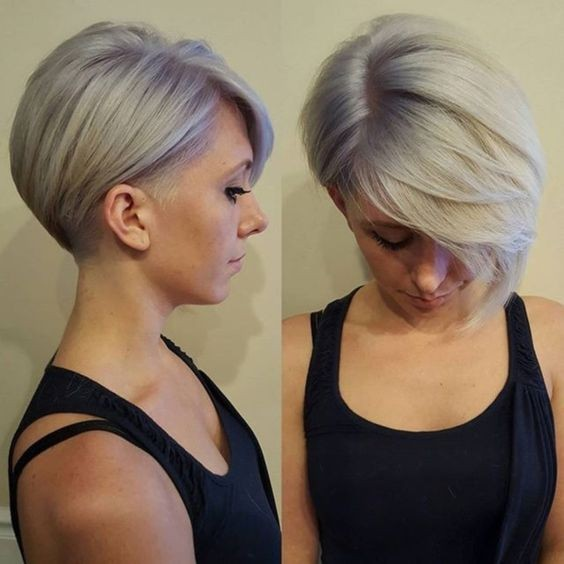 Trendy Shaved Short Haircut - Lange Pixie-Frisur für Frauen